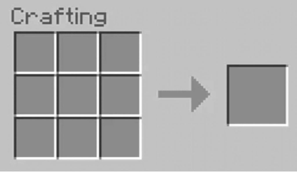 Open the crafting menu to craft Jack o'Lantern In Minecraft